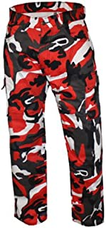 Bikers Gear Australia Men's Motorcycle Protective Kevlar Cargo Style Jeans Camo Red