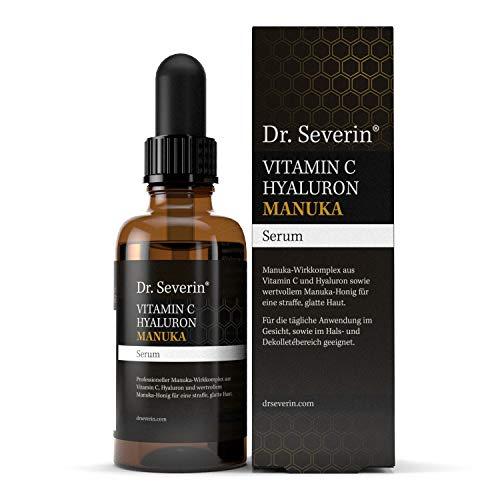 Dr. Severin® Manuka Vitamin C Hyaluron Serum I mit Manuka aus Neuseeland I Anti-Falten-Boost I hohe Hautverträglichkeit I Tag- und Nachtpflege für alle Hauttypen I Brightening-Effekt I 50 ml