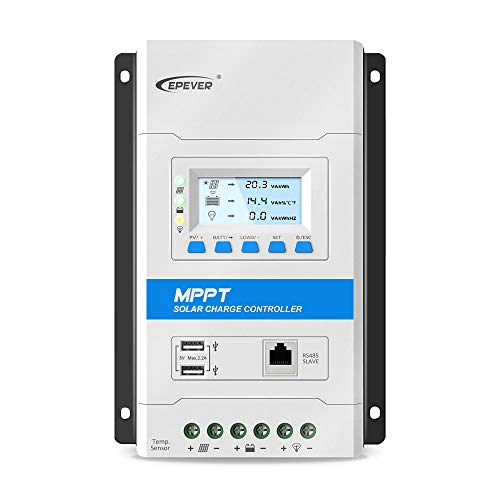 EPEVER 20A MPPT Solar Charge Controller 12V/24V Auto Working Max PV 100V...