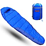 Trajectory Polyester Bonfire Sleeping Bag with Wallet and Phone Pocket for Men and Women (Royal Blue)