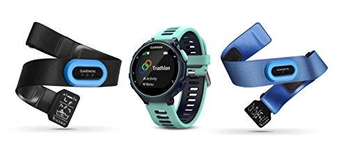 Garmin Forerunner 735XT GPS Avanzato, Cardio da Polso, Blu Ghiaccio, TRI Bundle Fasce HRM-Tri e HRM-Swim 010-01614-10