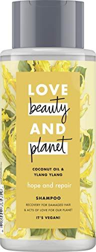 Love Beauty And Planet Hope & Repair Shampoo, für geschädigtes Haar Coconut Oil & Ylang Ylang Flower silikonfrei, 1 Stück (400 ml)