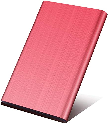 1TB/2TB Portable External Hard Drive - External HDD Storage USB 3.0 for PC, Mac, Laptop and Smart TV (1TB, Red)