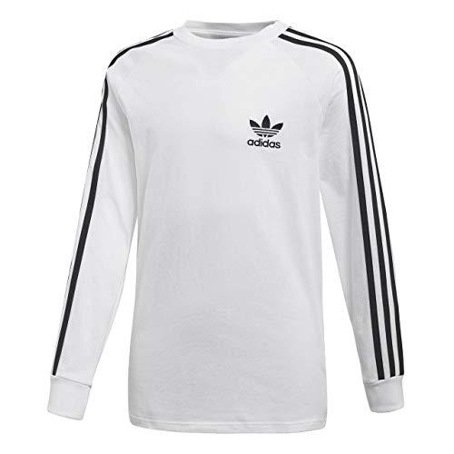 adidas Kinder Longsleeve California, White/Black, 140, CE1070
