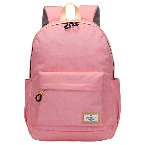 Modoker Backpack for Work Women Travel Laptop Rucksack College School Backpacks with USB Charging Port, Daypack Casual Hiking Computer Bag Fits 15 inch, Pink