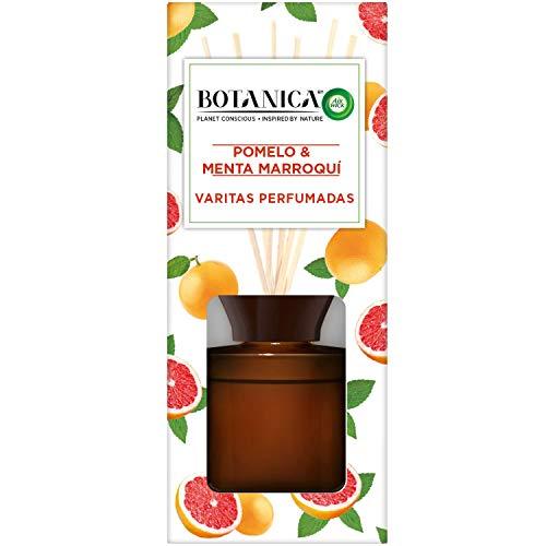 Botanica by Airwick Varitas Perfumadas - Ambientador Mikados, Esencia Para Casa Con Aroma A Pomelo Y Menta Marroquí - 80 ml