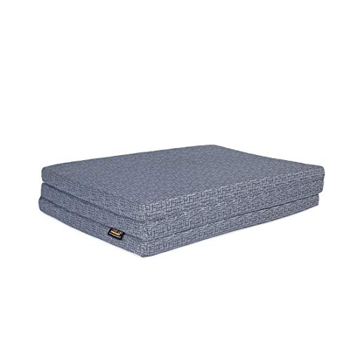 FRESH UP Single Bed Foldable Mattress Pure EPE Foam 3 Fold Mattress for Travel, Picnic (Mattresses 2 Inch Single Bed) (72x36x2 Inches)(Grey)