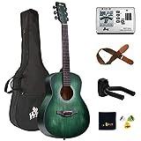 Winzz 3/4 Kit de Guitarra Acústica para Principiantes y Estudiantes 36 Pulgadas con Bolsa, Afinador...