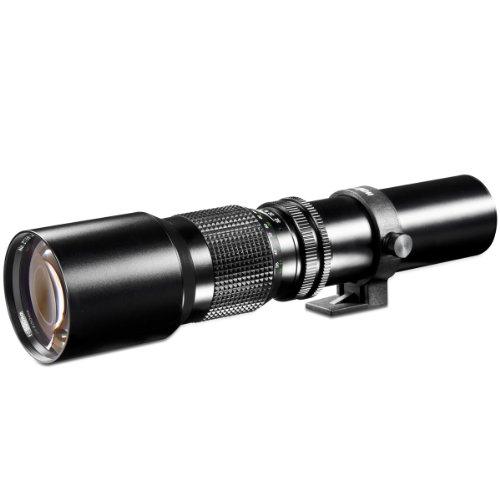 Walimex 500mm 1:8,0 CSC-Objektiv für Micro Four Thirds Bajonett schwarz ( für Vollformat gerechnet, Filterdurchmesser, inkl. Schutzdeckel)