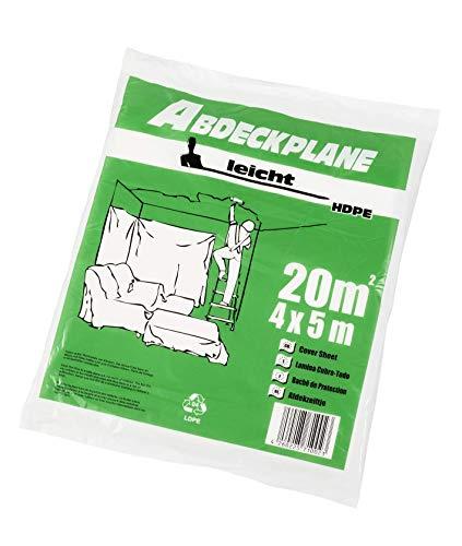 """Abdeckplane Abdeckfolie HDPE 7 my """"leicht"""" 4 x 5 m und 4 x 12,5 m Format: 4 m x 12,5 m"""