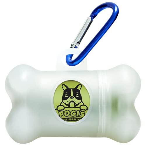Pogi's Poop Bags - Dispensador para bolsas - Incluye 1 Rollo (15 Bolsas) - Ecológicas, perfumadas, herméticas