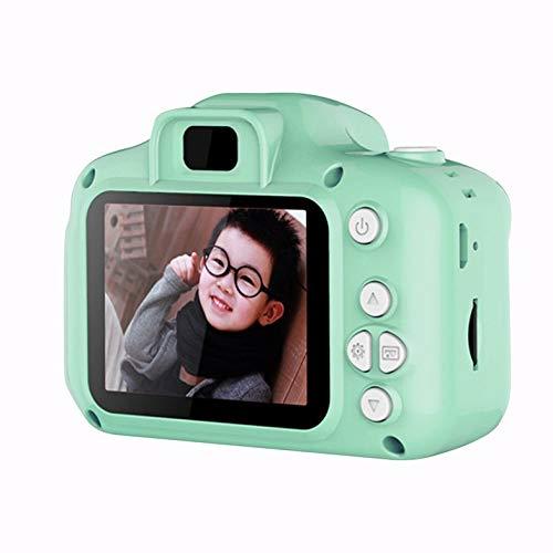 Pantalla HD Mini cámara Digital Recargable Niños Dibujos Animados Cute Camera Toys Accesorios de fotografía al Aire Libre para Regalo de cumpleaños Infantil - Verde