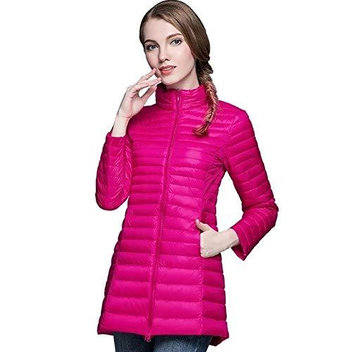 YRFHQB Mode Winter Vrouwen Midi Lengte Winter Down Jas 90% Down Jas Vrouwelijke Warm Bovenkleding Slim Parka Jas Lange Jassen