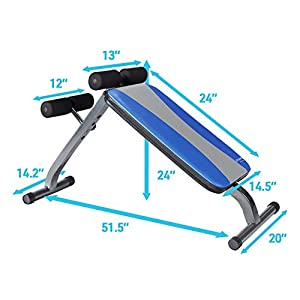 Pure Fitness Adjustable Ab Crunch Sit-Up Bench for toning and training, Foldable and Adjustable Design