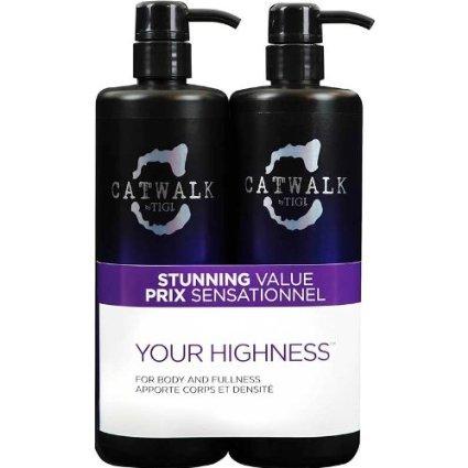 Tigi Catwalk Your Highness Shampoo 750ml + Conditioner 750ml Tween Duo