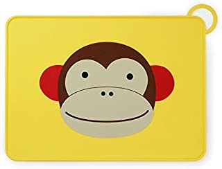 Skip Hop Zoo Fold and Go Silicone Kids Placemat, Marshall Monkey
