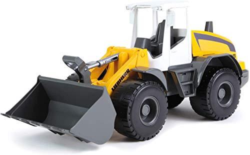 Lena 4612 Worxx Radlader Modell Liebherr L538 Litronic, ca. 48 cm, Baustellen Spielfahrzeug für Kinder ab 3 Jahre, robuster Schaufellader mit Griff und funktionstüchtiger Ladeschaufel, Gelb