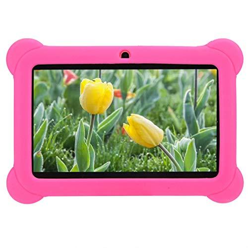 Socobeta Niños Tablet Pc 7in de Alta definición Niños Kid Tablet Pc Tablet Equipo de computadora Rojo(Enchufe de la UE)
