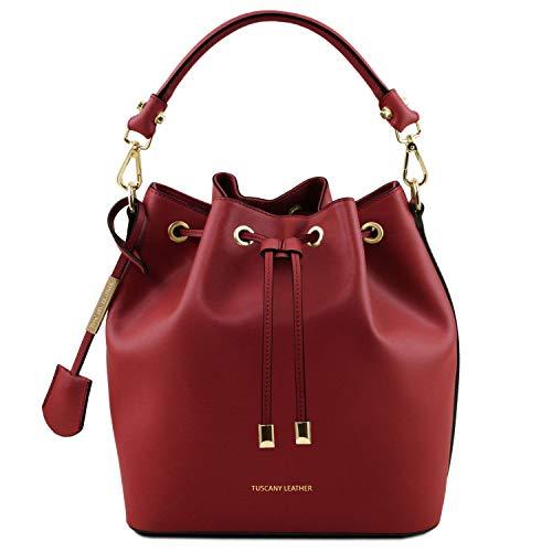 Tuscany Leather Vittoria Borsa secchiello da donna in pelle Rosso