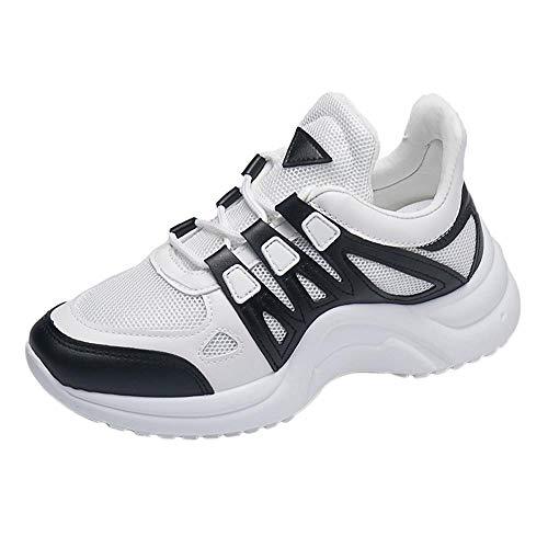 CAOQAO Damen Fitness Schuhe Mode LäSsig Feste Sport Atmungsaktiv Knit Leichte Slip On Schuhe Turnschuhe Leichte StoßFest