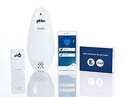 pHin Smart Water Care Monitor for Pools, Hot Tubs and Spas - 24/7 Continuous Water Testing + Know When to Add Chemicals with Automatic App Notifications (New & Improved)