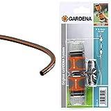 GARDENA Comfort HighFLEX Schlauch 13mm, 15 m, mit Power-Grip-Profil, 30 bar Berstdruck & Kupplungs-Satz: Schlauchkupplung zur Schlauchverlängerung 13 mm und 15 mm, auch bei hohem Wasserdruck