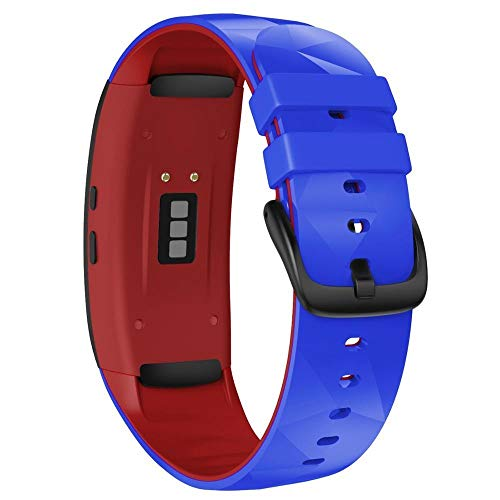 Correa Reloj Compatible para Gear Fit 2 Pro Correa Silicone Fitness Watch Band 1 (Band Color : Royal Blue Red)