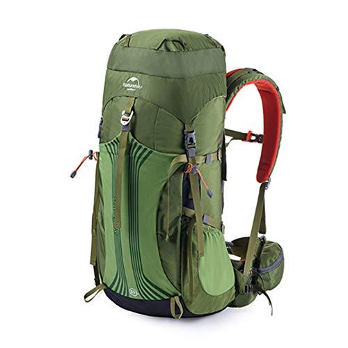 HENDTOR 55L 65L Professionelle Wanderrucksack Wasserabweisend Backpacking Bag Für Camping Trekking Bergsteigen 55L Green