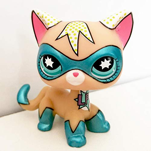 JKDC Tienda de Mascotas Juguete Rare Pet Shop Juguetes Lindos LPS Cat de pie Rojo Gato de Pelo Corto Perro marrón Dachshund Collie Spaniel Great Dane Regalo de año Nuevo para niños Super