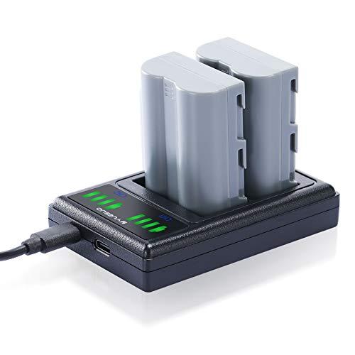 EN-EL3E Battery 2 Pack and Dual USB Charger Exactly Compatible with Nikon D700, D300S, D300, D200, D100, D90, D80, D70, D70s, D50 Digital SLR Camera (2000mAh)