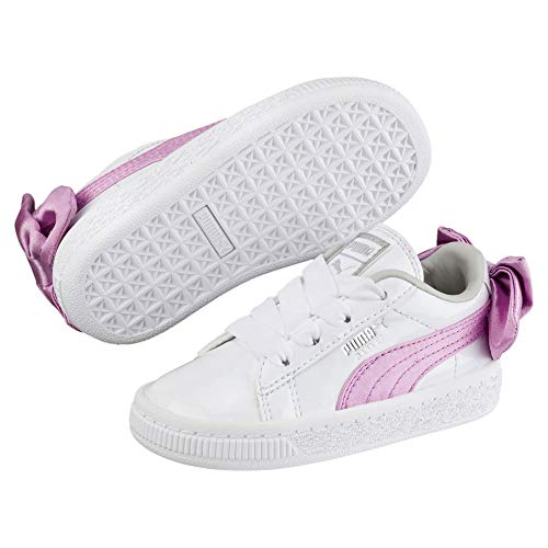 Puma - Scarpe Basket Bow Patent AC Bianca/Rosa A/I 2018 367623-02 - 310508-21