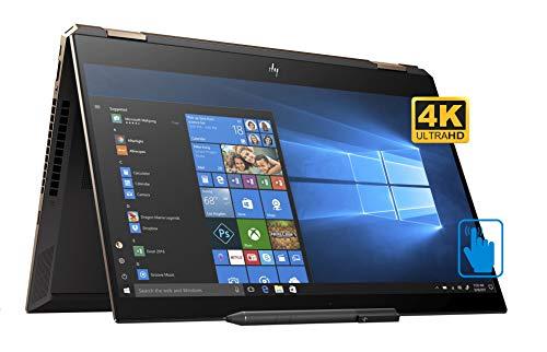 HP Spectre x360-15t Home and Business Laptop (Intel i7-8565U 4-Core, 16GB RAM, 512GB SSD, NVIDIA MX150, 15.6' Touch 4K UHD (3840x2160), Fingerprint, WiFi, Bluetooth, Webcam, Win 10 Home) (Renewed)