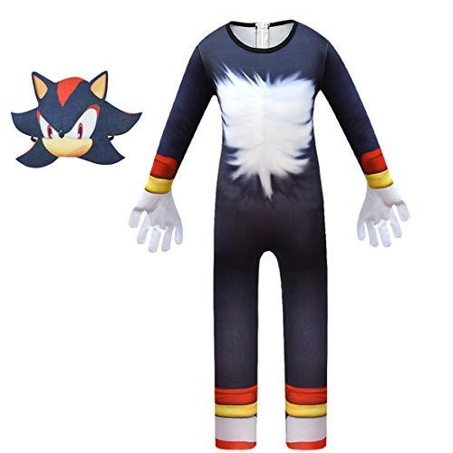 Petainer Sonic The Hedgehog Halloween Disfraz de cosplay infantil con máscara (110)