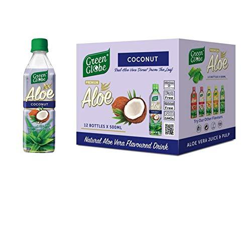 Green Globe No 6 Aloe Vera Juice Drink 500 ml (Pack of 12) (Coconut Aloe Vera Drink)