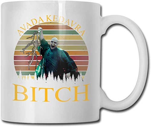 Taza Voldemort Avada Kedavra Bitch Cups 11OZ Diseño impreso Taza de café divertida Tee Cup