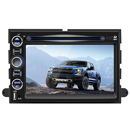 7 Inch Car Stereo Radio for Ford F150,Focus,Expedition,Escape with Bluetooth,Double Din Multimedia Stereo Player with Navigation,DVD,Touch Screen,Mirror Link,Steering Wheel Control,FM Head Unit