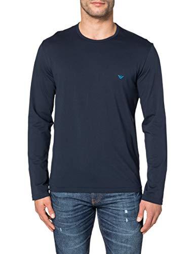 Emporio Armani Underwear Mens Pure Cotton T-Shirt, Marine, L