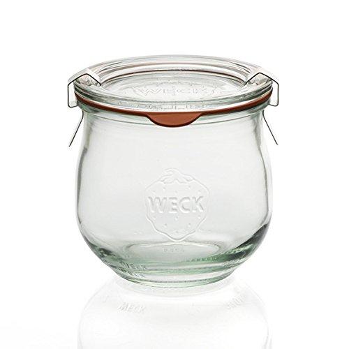 Weck-Tulpen-Glas, runder Rand, Glas, durchsichtig, 370 ml