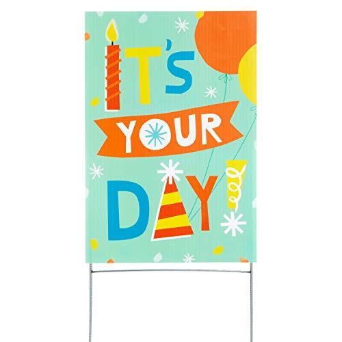 Hallmark Birthday Yard Card, It's Your Day (Yard Sign with Stake) (1499RZT9902)