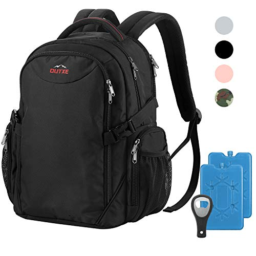"OUTXE Cooler Backpack Insulated Cooler Bag 22L for 15"" Laptops Lunch Backpack,Black"