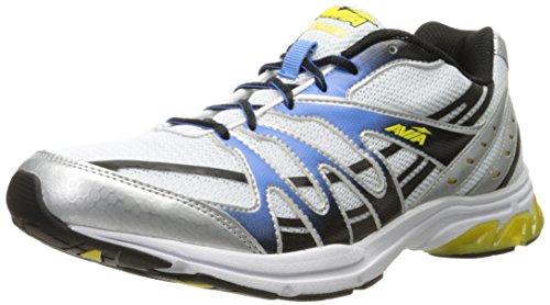 AVIA Men's Pulse II Running Shoe, White/Grey/Black, 12 2E US