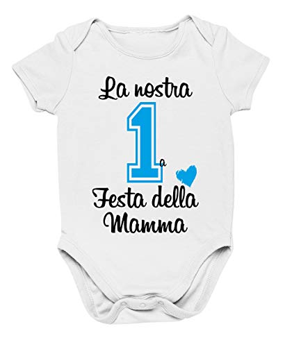 Colorfamily - Body para recién nacido para bebé, para el día de la madre, ideal para regalo Bianco 6-12 Meses