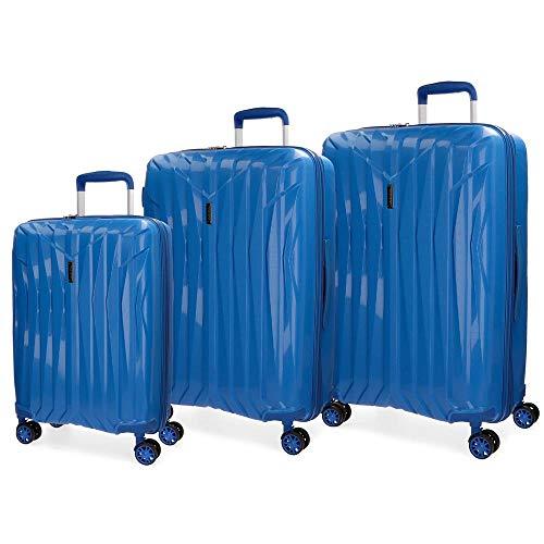 Juego de maletas Movom Fuji Azul rígidas 55-66-77cm