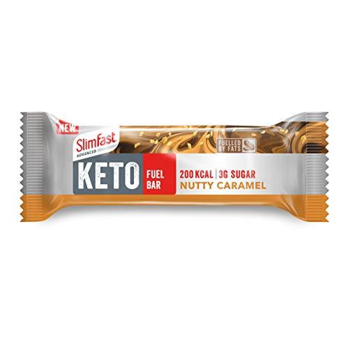 SlimFast Advanced Keto Fuel Bar Nutty Caramel, 46 g - 12 Count, SF500301