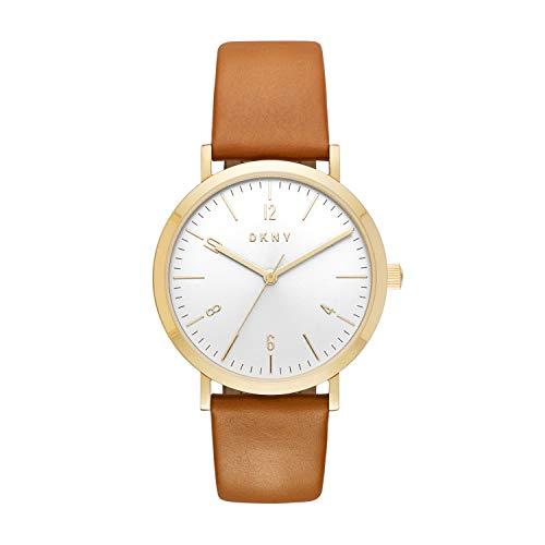 DKNY Damen Analog Quarz Uhr mit Leder Armband NY2613