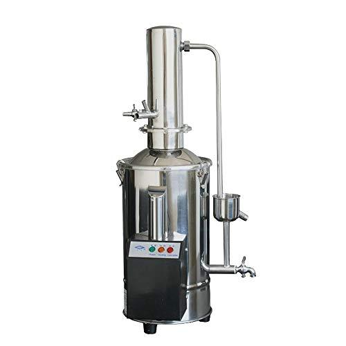 Cgoldenwall Máquina de agua destilada de 5L/10L/20L destilación de agua pura de control automático (control de ruptura de agua, 5L/h de destilación única)