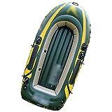 NEHARO Kayaks Barco al Aire Libre de 2 Personas CLORURO DE POLIVINILO Barco de Pesca de Kayak Inflable Barco fácil de Llevar para la Playa (Color : Green, Tamaño : 236x114x41 CM)