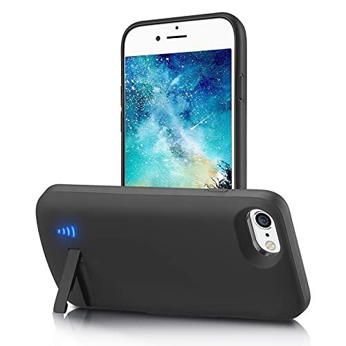Gladgogo Funda Batería para iPhone SE 2020/7/8/6S/6 [6000 mAh] Funda Cargador Carcasa Batería