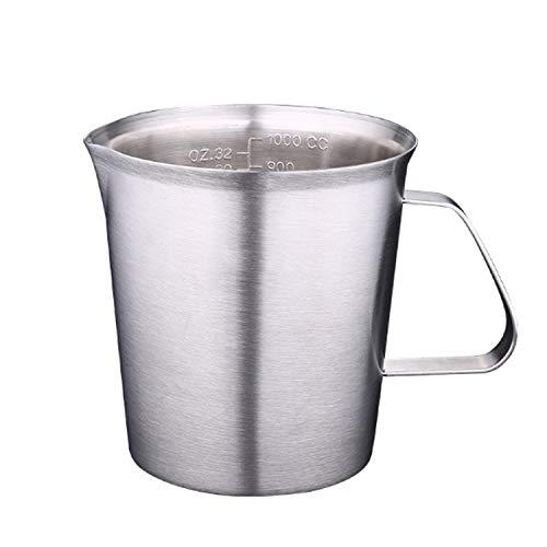 Ustensile de cuisine Tasse à mesurer en acier inoxydable épaisse avec une balance Cuisine Cuisson Thé au Lait Tasse à mesurer de grande capacité hygiénique (Size : 2000ml)
