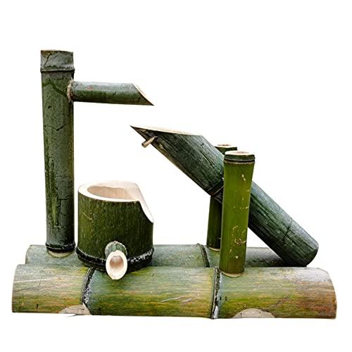 XCDM Zen japonés Decoración del hogar Decoración de pecera Decoración de jardín Cascada Zen Oriental Estilo japonés Adornos de Agua Que Fluye Creativo Artificial Noria Creativa